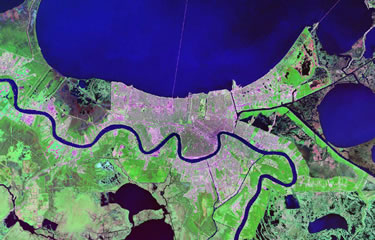 New Orleans satellite image