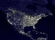 Earth at night, an electricity use map of the world