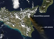 Monitoring volcanoes from space