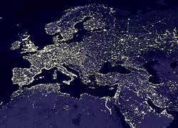 World at Night Satellite Image