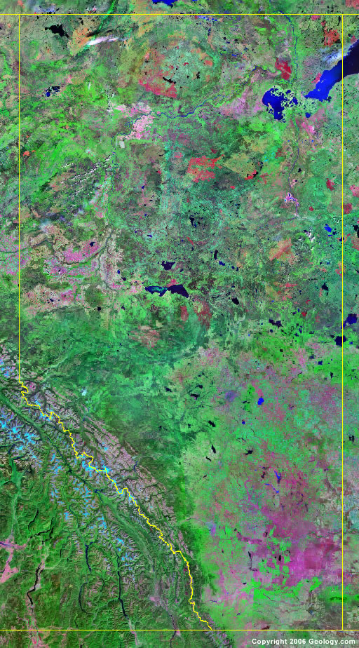 Alberta satellite photo