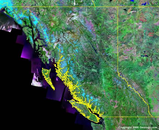 British Columbia satellite photo