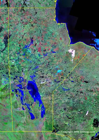 Manitoba satellite photo