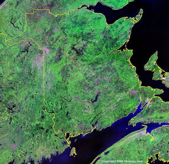 New Brunswick satellite photo