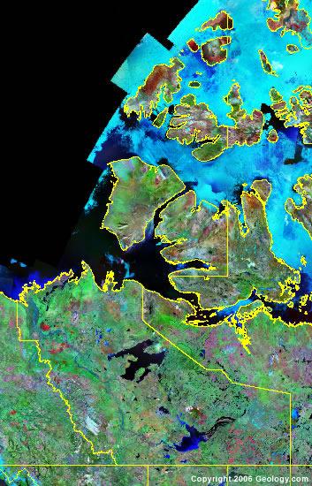 Northwest Territories satellite photo