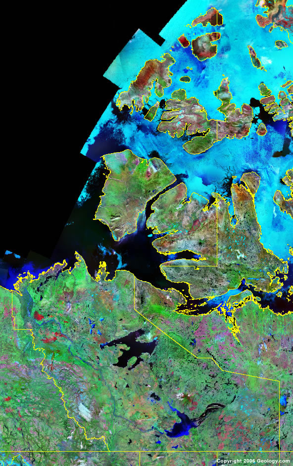 Northwest Territories satellite photo