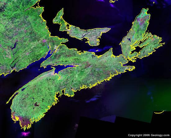 Nova Scotia satellite photo