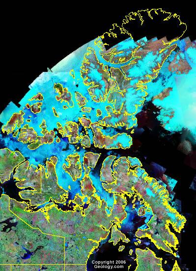 Nunavut satellite photo