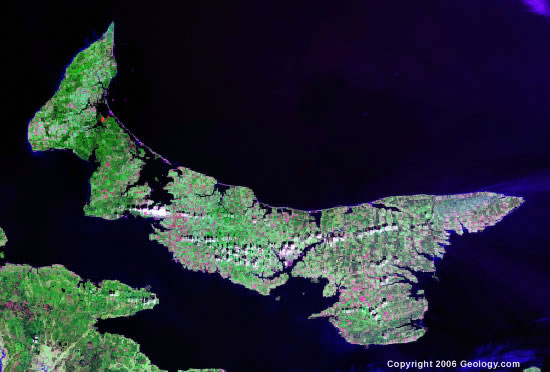 Prince Edward Island satellite photo
