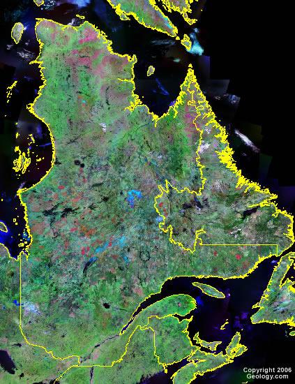 Quebec satellite photo