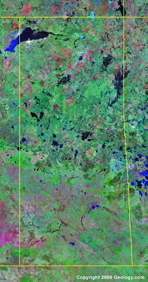 Saskatchewan satellite photo
