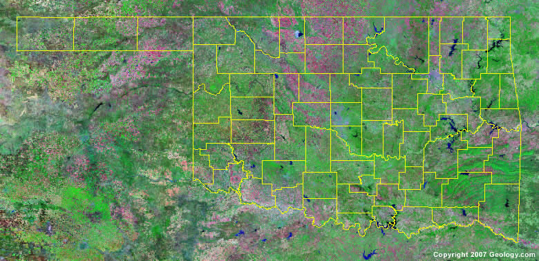 County Map - Oklahoma county map