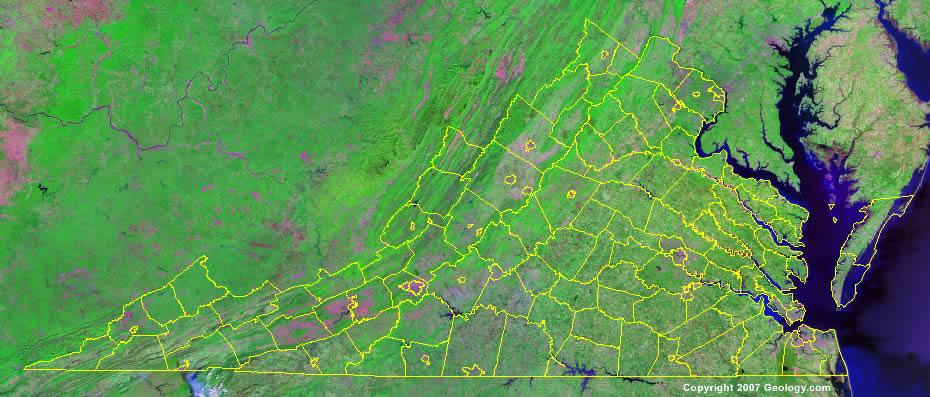 Virginia County Map