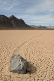 Sliding rocks at Racetrack Playa