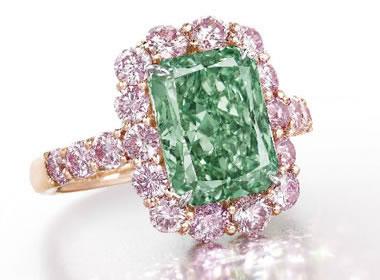 Aurora Green Diamond auctioned by Christie's