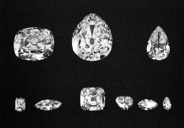 Nine Cullinan Diamonds