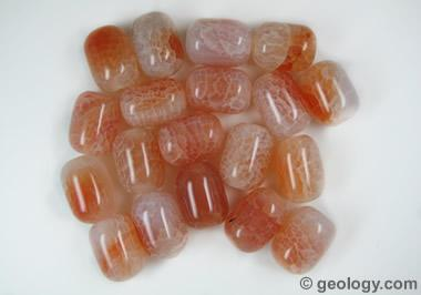 Orange crack agate beads