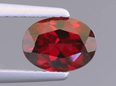 Faceted ant hill garnet