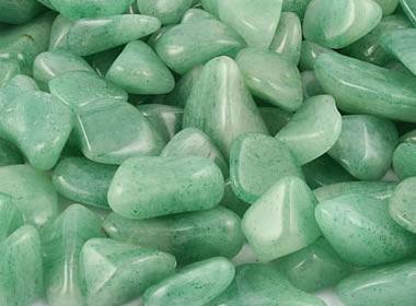 Aventurine: A translucent quartz with a sparkle of mica