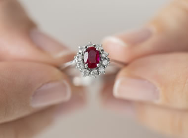 Birthstone Engagement Ring