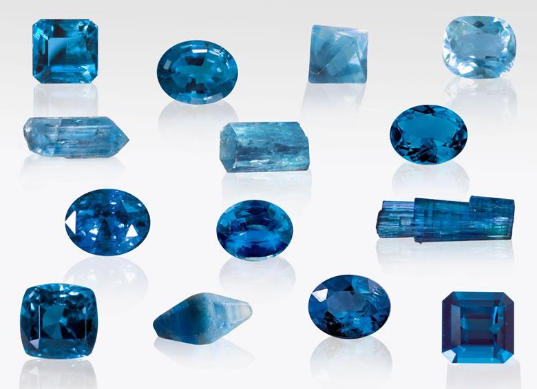 Blue Gemstones and Crystals