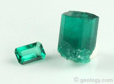 Lab-created emerald