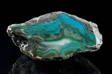 a nodule containing gem silica, malachite, chrysocolla