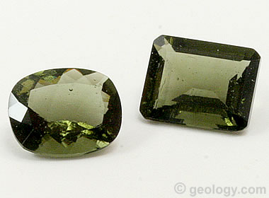 Moldavite - A green gem material formed by an asteroid impact