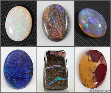 Pictures of Opal - Black, Fire, Boulder, Rough, Crystal