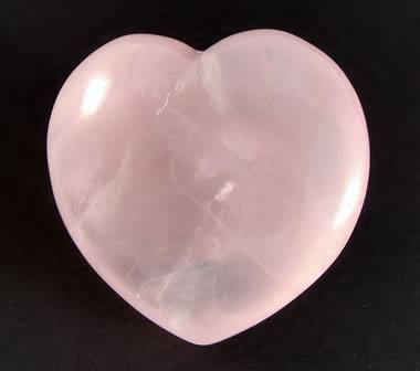 rose quartz puffed heart