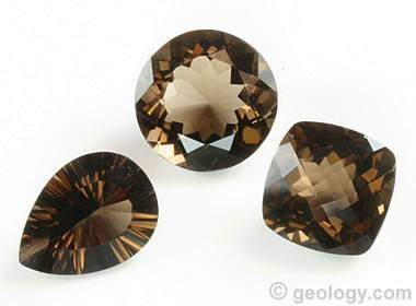 faceted smoky quartz