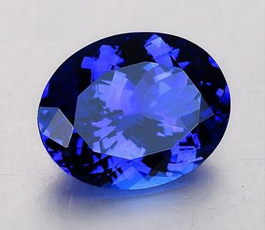 gem cushion stunning intense carats tanzanite purple gemstone color mm blue