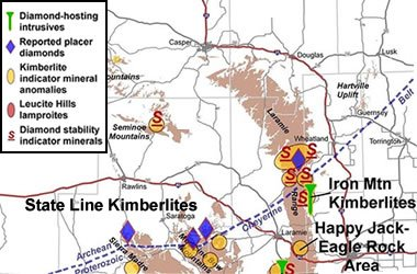 US Diamond Mines Diamond Mining In The United States - Us iron mines map
