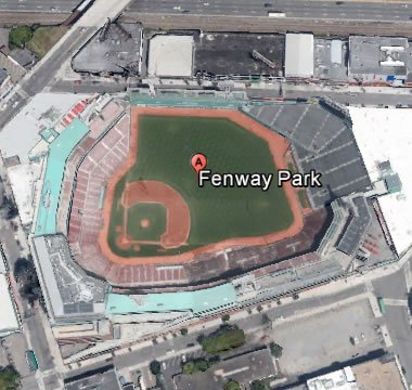 Fenway Park From Google Earth