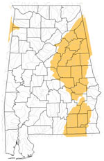 Map Of Alabama Lakes Streams And Rivers - Alabama rivers map