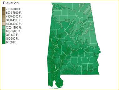 Map Of Alabama Lakes Streams And Rivers