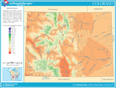 Map Of Colorado Lakes Streams And Rivers - Map of colo