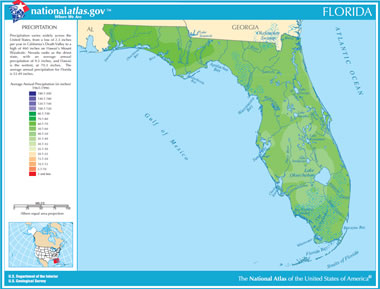 Map Of Florida Lakes Streams And Rivers - Map of florida lakes