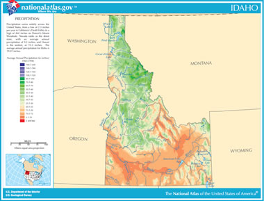 Map Of Idaho Lakes Streams And Rivers - Physical map of idaho