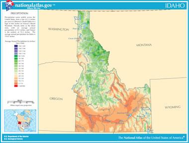 Map of Idaho Lakes Streams and Rivers