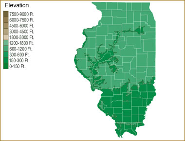 Map Of Illinois Lakes Streams And Rivers - Map of illinois rivers