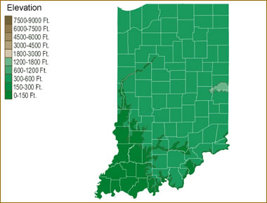 Map Of Indiana Lakes Streams And Rivers - Indiana rivers map