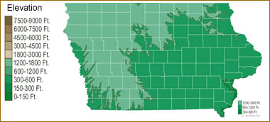 Map Of Iowa Lakes Streams And Rivers