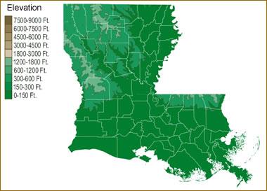 Map Of Louisiana Lakes Streams And Rivers - Louisiana lakes map