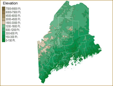 Map Of Maine Lakes.Map Of Maine Lakes Streams And Rivers