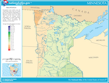 Map of Minnesota Lakes Streams and Rivers