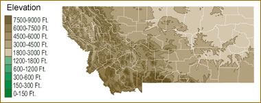 Map Of Montana Lakes Streams And Rivers - Rivers of montana map