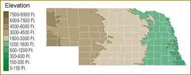 Map Of Nebraska Lakes Streams And Rivers - Nebraska rivers map