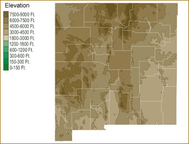 Rivers In New Mexico Map.Map Of New Mexico Lakes Streams And Rivers