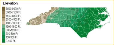 North Carolina Lake Map River Map And Water Resources